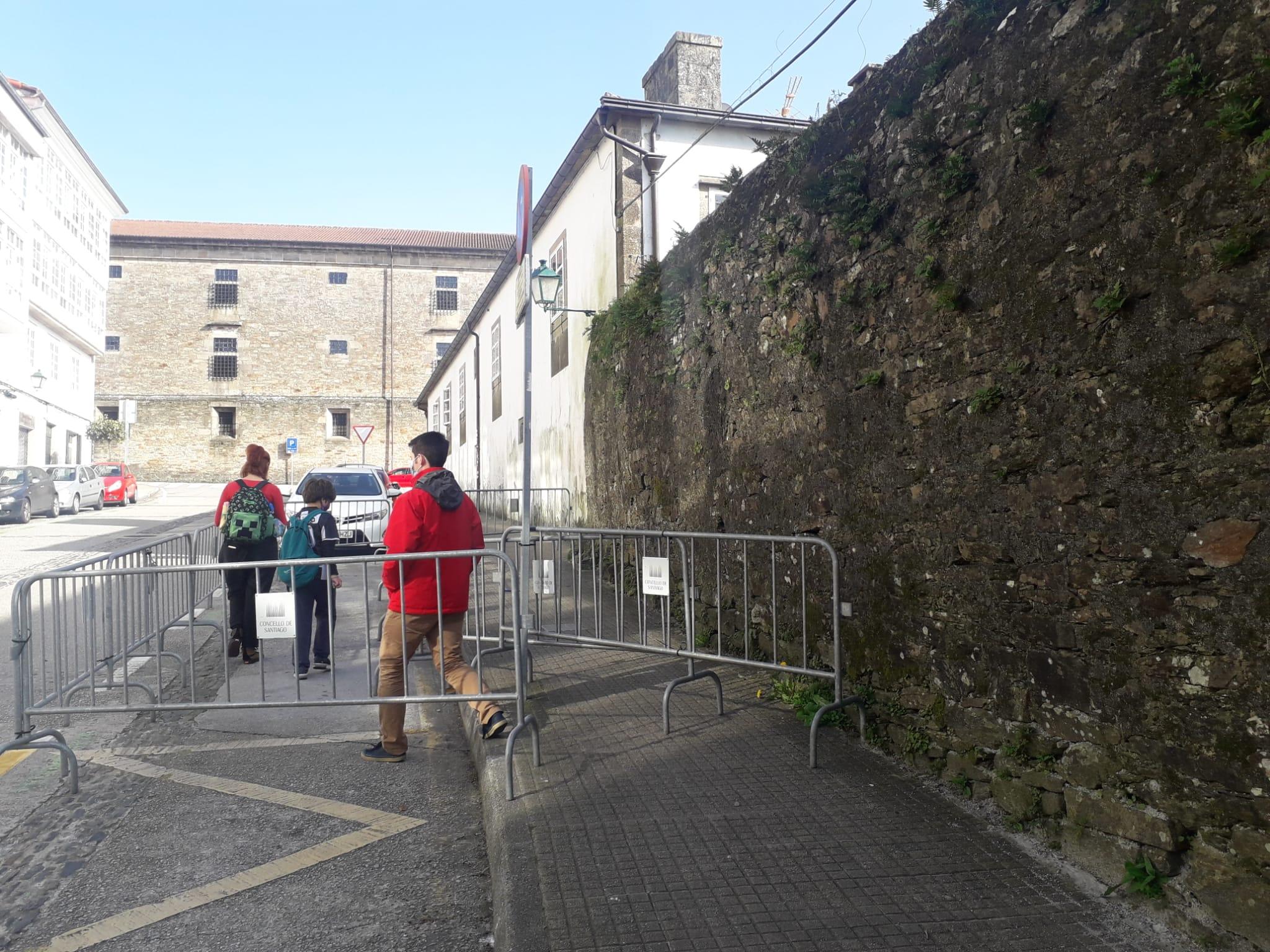 O BNG reclama que se arranxe de urxencia o muro deteriorado da avenida de Coimbra