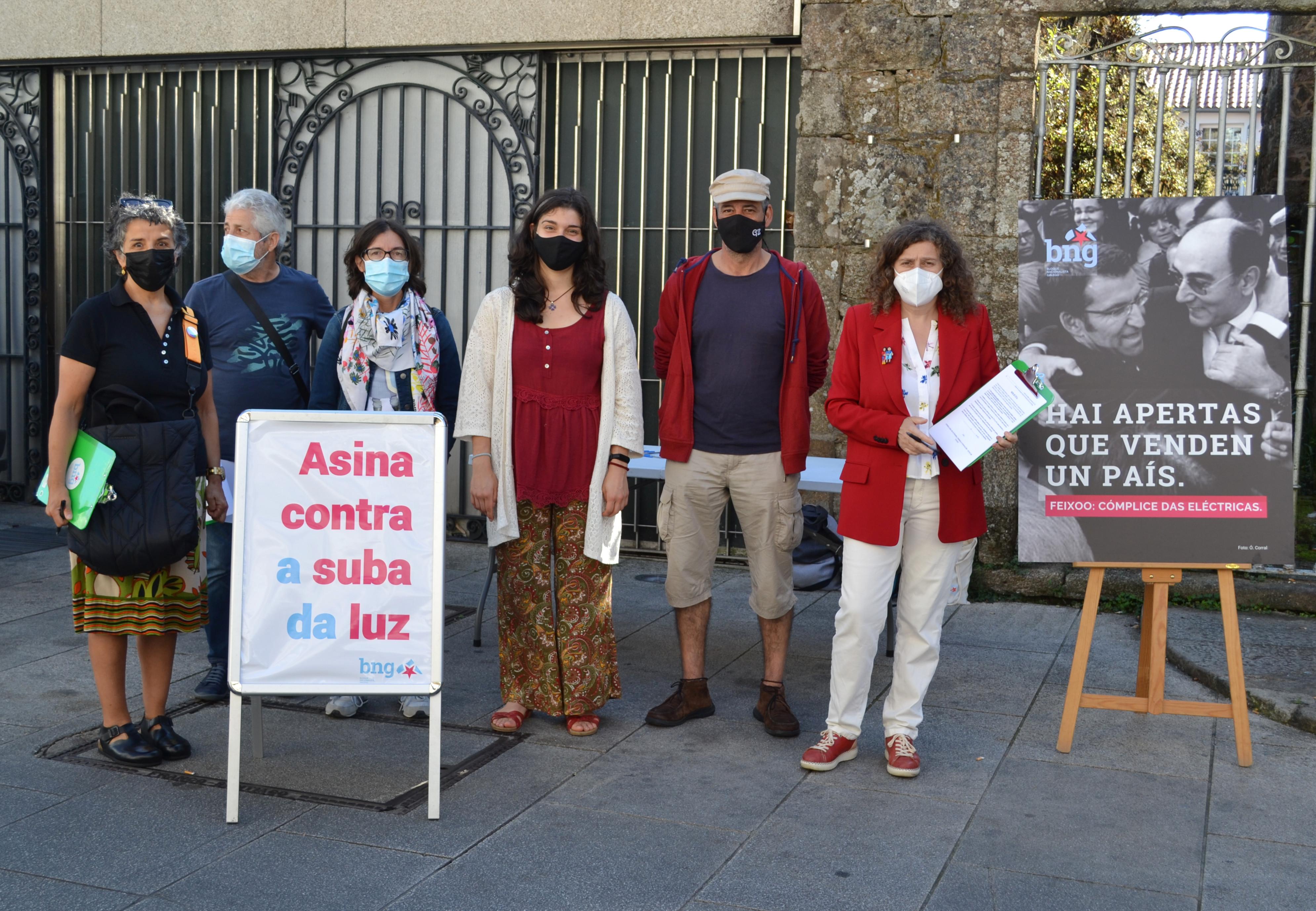 O BNG fai un chamamento a participar na concentración deste domingo contra a suba do prezo da luz